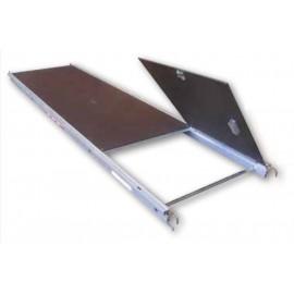 Plancher alu bois à trappe ALTRAD 3m/0m75