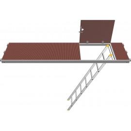 Plancher à trappe décalé Combi avec échelle accès LAYHER