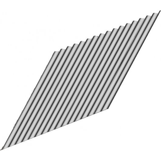 Tôle ondulée galva 0m90 x 2m