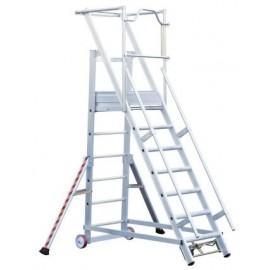 TUBESCA escalier de rayonnage 5 marches
