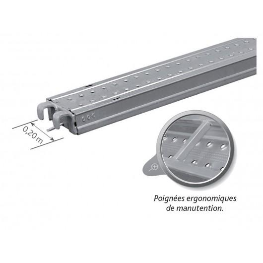 Plancher acier - Largeur 0,20 m DUARIB