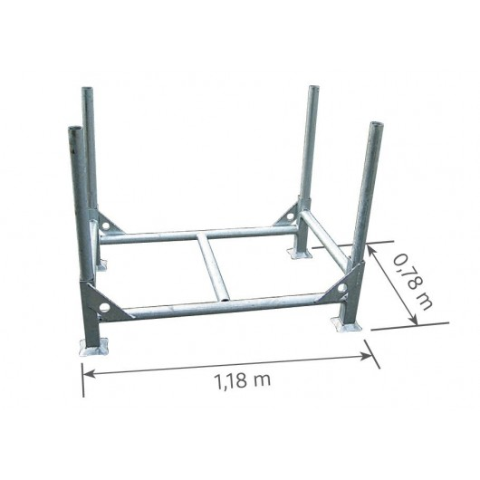 Rack à poteaux démontables acier galvanisé DUARIB