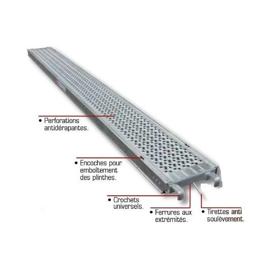 Plancher Aluminium ALTRAD 3mx0m30