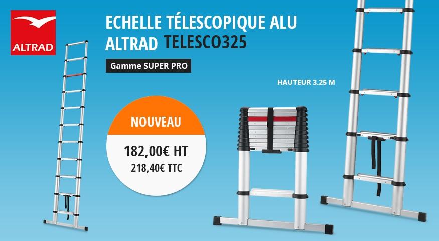 Echelle téléscopique alu altrad telesco325