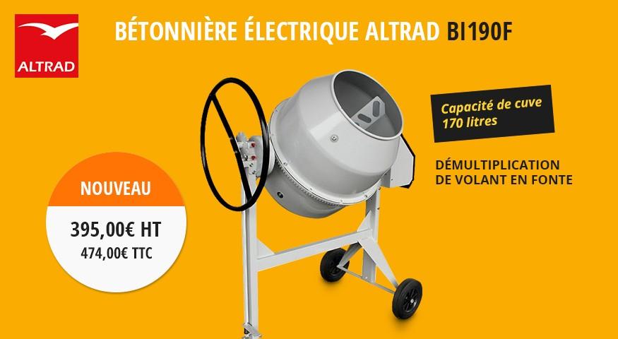 Bétoniière Electrique Altrad BI190F